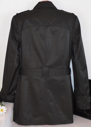 Брендовый черный плащ тренч с поясом и карманами the collection debenhams вьетнам этикетка3 фото