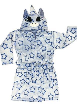 Детский махровый халат единорожка