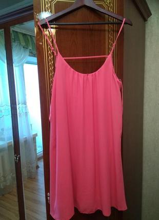 Новое стильное брендовое платье на тонких бретельках, красивая спина, размер 14-16