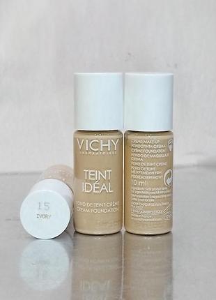 Тестер тональный крем для сухой кожи vichy teint ideal cream тон 15 до 01.2021