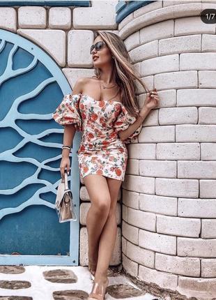 Невероятное платье в цветочный принт zara только 2 дня супер цена 🔥🔥🔥
