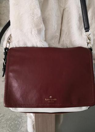Роскошная кожаная сумка kate spade new york👜👜🌹💖