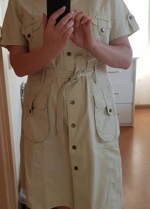 Платье сафари фирменное винтаж