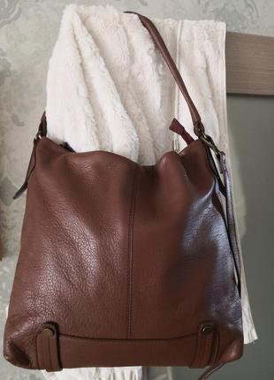 Шикарная большая кожаная сумка white stuff👜👜🌸🏵️🌹