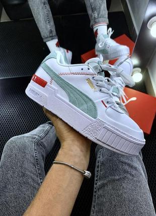 Шикарные женские кроссовки puma cali🔼пума кали белые
