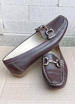 Кожаные мокасины лоферы балетки туфли geox respira 37 р. оригинал