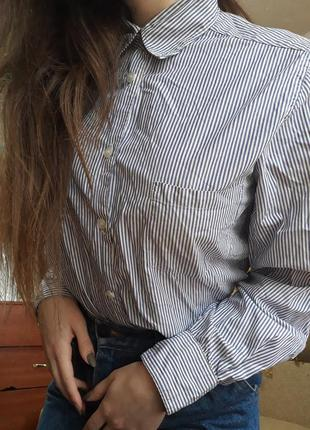 Легкая рубашка в полоску от l.o.g.g