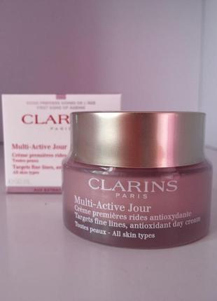 Clarins multi-active day антиоксидантный дневной крем против первых морщин