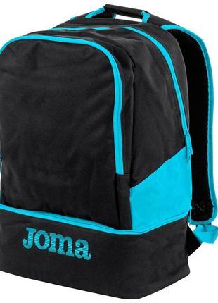 Новый спортивный рюкзак joma черно-голубой