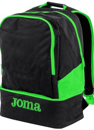 Новый спортивный рюкзак joma черно-салатовый