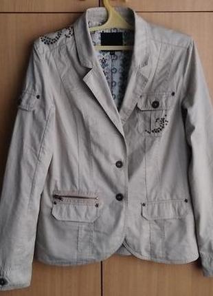 Куртка amisu/xs-42/color: light beige/cotton-100%.