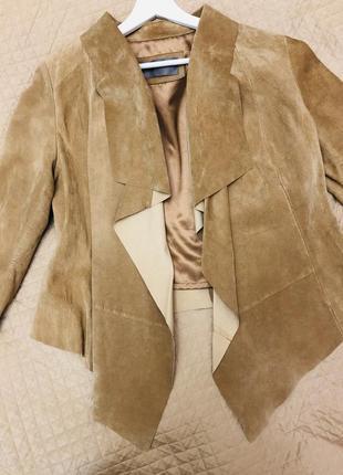 Стильные замшевый кардиган куртка