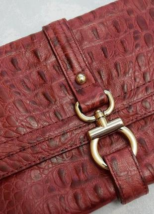 Кожаная сумка клатч из кожи крокодила talbots сумка 100% кожа рептилии шкіряна сумочка