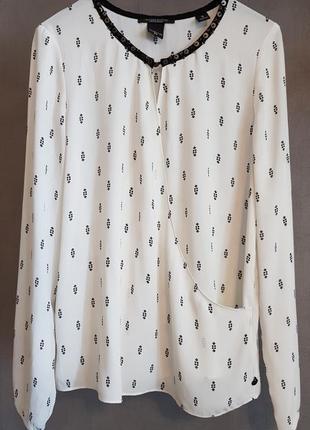 Очень красивая нарядная белая блузка maison scotch