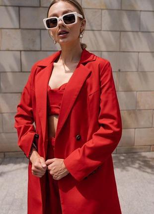 Костюм-тройка брюки+топ+пиджак, разные цвета в наличии