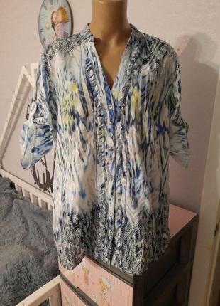 Легкая комфортная блуза, размер 16/18, большемерит