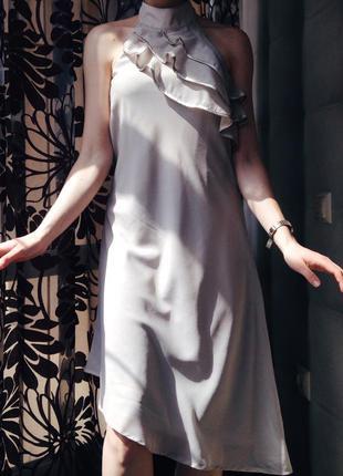 Невесомое платье с чокером vero moda
