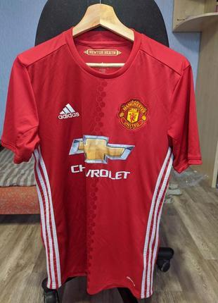 Adidas manchester united chevrolet футбольная футболка