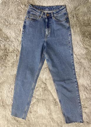 Mom джинсы высокая посадка