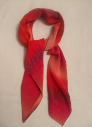 Яркий шелковый платок подписной роуль хустина+ 300 платков шарфов на странице