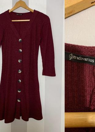 Платье в рубчик stradivarius, новое!