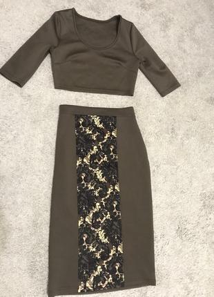 Костюм:юбка и топ
