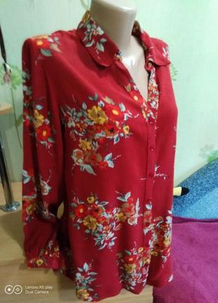Красивая вискозная женственная рубашка-м-l- biaggini