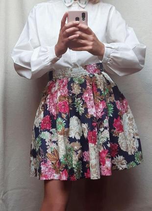 Юбка pink в цветочный принт