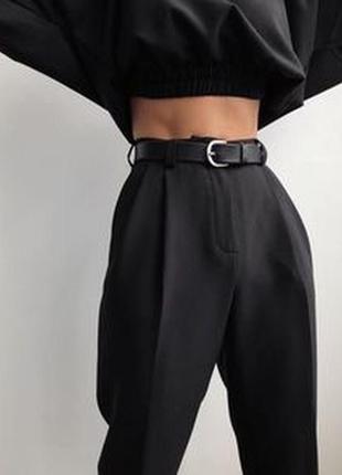 Madeleine/шерстяные брюки с кашемиром с защипами и подворотами
