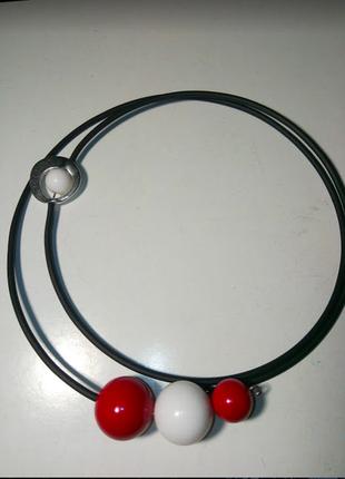 Стильный чокер колье ожерелье бусы натуральные камни