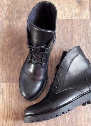 Осенние ботинки кожа