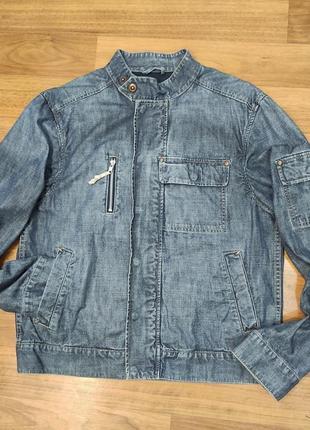 Tom tailor мужская тонкая джинсовая куртка, пиджак, джинсовка