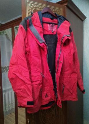 Стильная брендовая натуральная спортивная куртка катон, размер 16-18