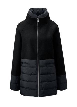 Элегантное. теплое пальто-пуховик , евро зима (40% шерсть ) от tchibo (германия)