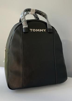 Чёрный большой рюкзак tommy hilfiger
