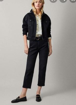 Тренд!! укороченные джинсы прямого покрою,высокая посадка.