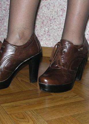 Молодежные туфли на платформе