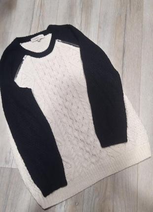 Цікавий светр джемпер великого розміру у складі шерсть!