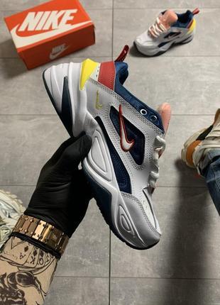 Очень красивые стильные женские кроссовки nike m2k tekno blue force multicolor.