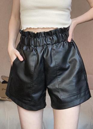 Базовые кожаные шорты