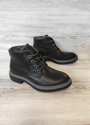 Фирменные кожаные ботинки ecco2 фото