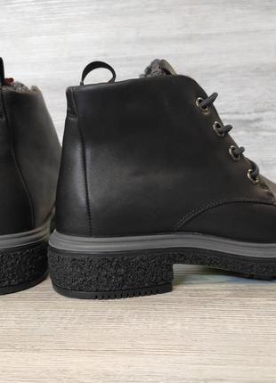 Фирменные кожаные ботинки ecco3 фото