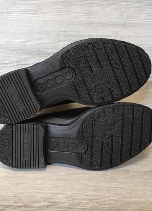 Фирменные кожаные ботинки ecco6 фото