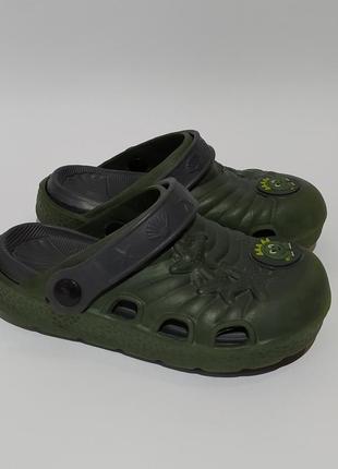 Шлёпки шлёпанцы с динозавром как крокс кроксы crocs размер 27
