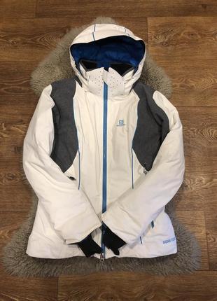 Шикарная горнолыжная куртка пуховик gore-tex salomon