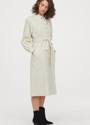 Стильное платье -рубашка h&m,p.m-l