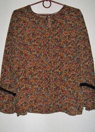 Шифоновая блуза цвета осени большой размер