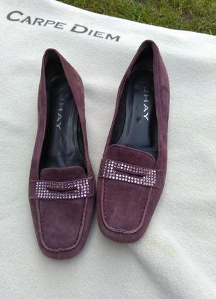 Женские замшевые туфли лоферы tpu jhay