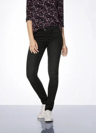 Зауженные черные джинсы скинни, l 40, xxl 44 euro, esmara, германия