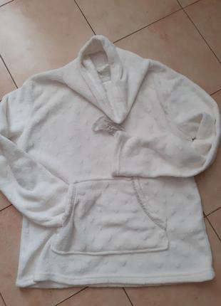 Кофта для дома,батник пушистый флис, реглан,пижама